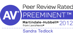 Sandra Tedlock - AV Rated By Martindale-Hubbell